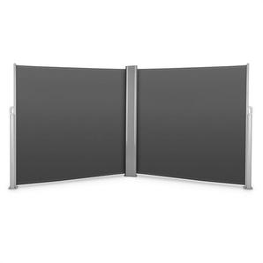 Blumfeldt Bari Doppio 618 Double store latéral 6x1,8m aluminium -anthracite