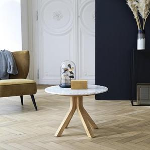 Table basse Stonecrumb en bois de chêne et marbre 50