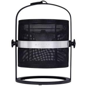 PETITE-Lampe à poser / Lanterne dextérieur LED solaire Aluminium/Textile outdoor H36cm Noir Charbon/Noir Charbon Maiori