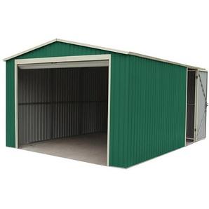 Garage Voiture Métallique Gardiun Essex 19,5 m² Extérieur 576x338x243 cm Vert