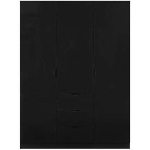 Armoire 3 portes 3 tiroirs LETTY coloris noir