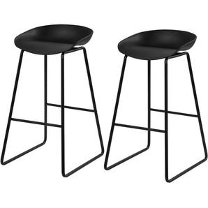 Chaise de bar Yoshi noire 76 cm (lot de 2) - RENDEZ VOUS DéCO