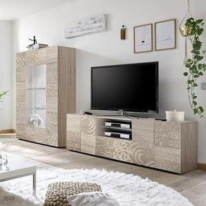 Grand ensemble TV couleur chêne NERINA 3
