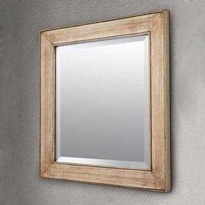 Miroir carré Sverre doré antique