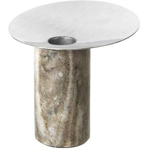 Broste Copenhagen Bougeoir Sig  - gris acier mat - Ø10,5 x H8 cm