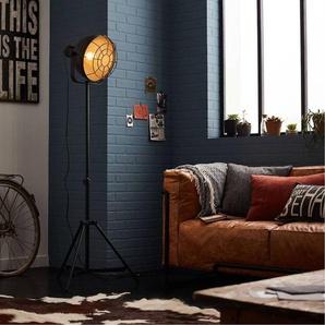 JESPER-Lampadaire Métal H166cm Noir Brilliant