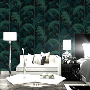 Papier peint 3D Chinois rétro palmier feuilles fond décran Nordic salon TV fond papier peint intissé Acheter trois Get One Free (Color : L00506)