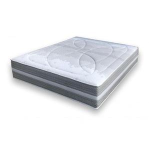 Matelas Essenzia SPRING 600 Soft STRETCH BAMBOO 80x200 Ressorts - Blanc