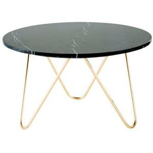 Table basse en marbre noir et métal doré Eagle