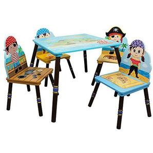 Fantasy Champs Pirate Toddler Enfants Table en bois et chaise TD-11593S-A lintérieur
