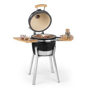 Klarstein Princesize Pro Barbecue grill Kamado 13 (33 cm) thermomètre tablettes latérales noir