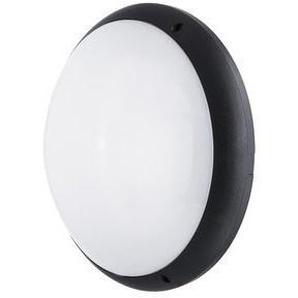 Hublot fluo 2X18W Ø 350mm polycarbonate noir avec lampe 4000K 1420lm G24q-2 et ballast elec CL2 IK10 IP65 SQUAD EBENOID 879441 - LEBENOID