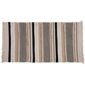 Tapis en coton motifs à rayures 90x150