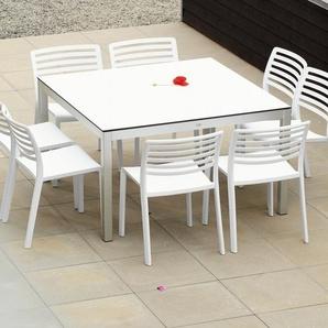 Jan Kurtz Table Quadrat - blanc - Aluminium blanc - 180 x 90 cm