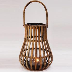 Lanterne en rotin naturel miel hauteur 45 cm