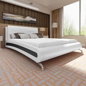 Cadre de lit Blanc Similicuir 180 x 200 cm