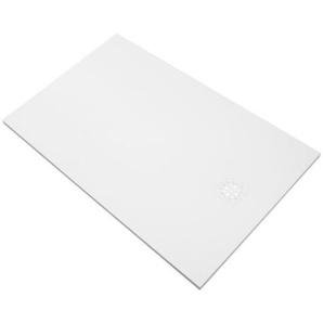 Saniclass Relievo Receveur de douche 140x100cm Fine Stone antibactérienne et antidérapant blanc mat avec siphon peu profond 90mm 9234