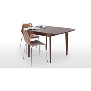 Monty, table extensible 2 à 4 personnes, frêne teinté foncé