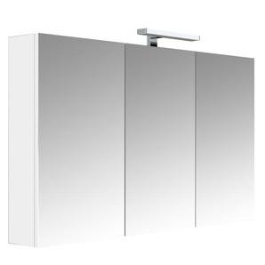Armoire miroir de toilette éclairante 120 cm Juno 3 portes tryptique - ALLIBERT