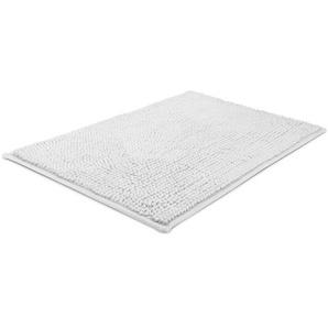 Beautissu Tapis de Bain BeauMare WR - Antidérapant Absorbant 120x70cm Blanc