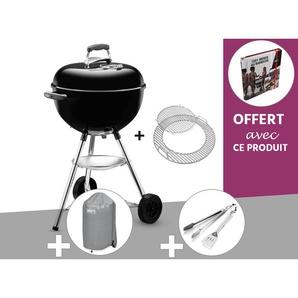 Barbecue à charbon Weber Bar-B-Kettle GBS 47 cm Noir + Housse + Kit Ustensile + Livre OFFERT