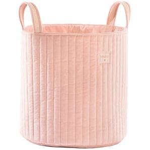Nobodinoz Sac à Jouets Savanna Velvet - Bloom Pink