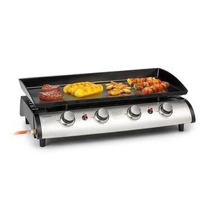 Klarstein Grillfabrik grill à gaz 4 brûleurs 10kW plaque de grill en acier inoxydable tuyau à gaz