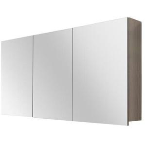 Differnz Armoire de toilette 120x60x15cm 3 portes avec miroir MDF chêne gris 36.701.14