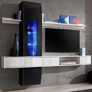Meuble télé suspendu noir et blanc design ALATRI 2