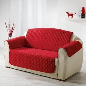 DOUCEUR dINTERIEUR Protège canapé matelassé Club 223x179 cm rouge