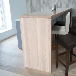 Chaise de bar en cuir brun MADISON