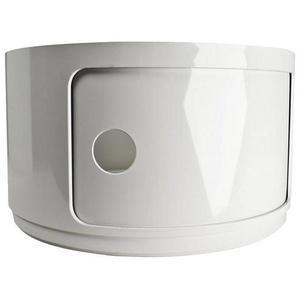 Kartell Componibili 1 - Élément Modulable rond - blanc/matière plastique ABS/hauteur 23,5cm