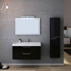 Meuble salle de bain CALABRO 1000 Noir