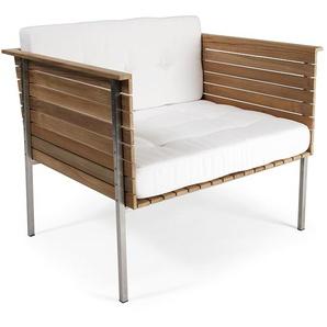 Skargaarden Chaise de salon Häringe - gris fumée - acier brossé