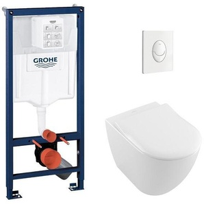Pack WC Grohé Rapid SL Mural + Cuvette Subway 2.0 sans bride + Plaque Blanche - GROHE