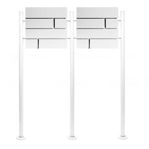 Boite lettres Kit Mural V15 Blanc revêtue poudre Double Verrouillable Courrier Mailbox - WILTEC
