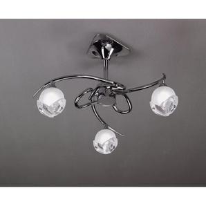 Semi-Plafonnier design BALI CROMO 3L - ampoule G9 osram - mantra