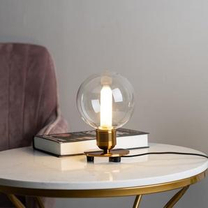 Lampe de chevet vintage dorée en verre - Giani - Doré / Laiton - Métal et verre -