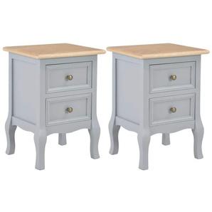 Table de nuit chevet commode armoire meuble chambre 2 pcs gris 35x30x49 cm mdf - Gris - HELLOSHOP26