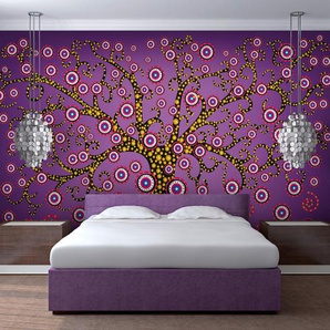 Papier peint - abstraction: arbre (violet)