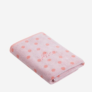 Serviette de bain rose/pois