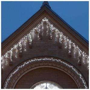 Frise LED blanche fixe 230V longueur 4m largeur 0.80m 200 leds 19W 36 descentes câble blanc Int/Ext prolongeable CHROMEX 059237