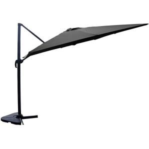 Palatino gris : Parasol déporté, carré de 3x3m, rotatif à 360° - CONCEPT-USINE