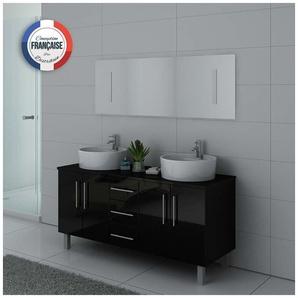 Meuble de salle de bain DIS989 Noir - DISTRIBAIN