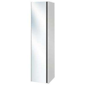 Villeroy & Boch Vivia Armoire colonne haute 165x40x40cm avec 1 porte miroir 2 côtés gauche blanc brillant B05000DH
