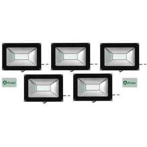 5×Anten 50W Projecteur LED Lumière Extérieur et Intérieur 4000LM Spot LED Étanche IP65 Blanc Chaud 3000K Coque Noir