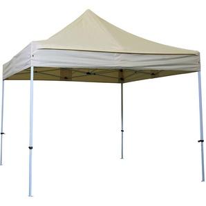 Tente pliante tonnelle 3x3 M Acier 32mm - Bâche 300g/m² - IVOIRE - INTEROUGE