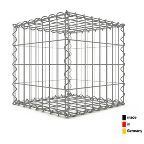 Gabion 40x40x40cm « made in Germany » - mailles rectangulaires 5x10cm - GABIONDECO