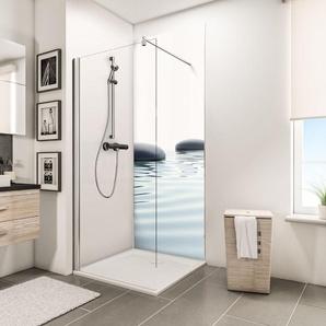 Panneau mural 90 x 210 cm, revêtement pour douche et salle de bains, DécoDesign PHOTO, Schulte, Pierres zen et eau