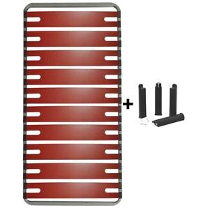 RedLine - Pack Sommier 10 Lattes 90x190cm + Pieds Noirs